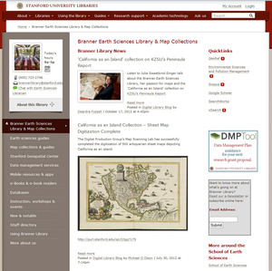 Branner Earth Sciences website